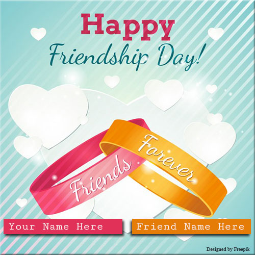 Happy Friendship Day Friends Forever Belt With Name