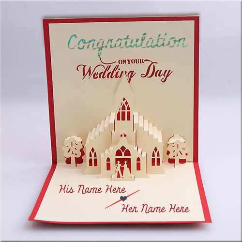 Wedding card name chatterzoom