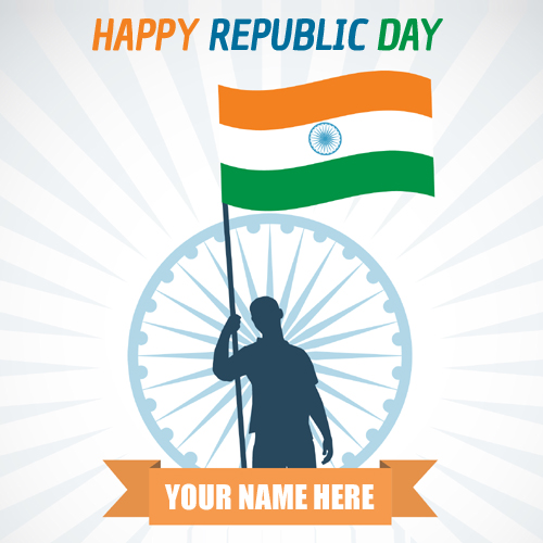 Happy Republic Day 2018 Wish Card With Name