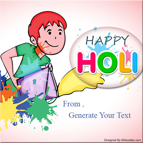 Generate Happy Holi Celebration Name Picture