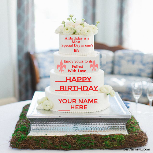 Big Birthday Cake Images With Name : Write Name on Greetings,Cakes,Posters,Whatsapp DPs and ...
