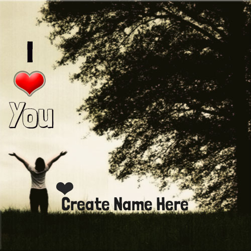 Personalize I Love You Profile Picture With Boy Name