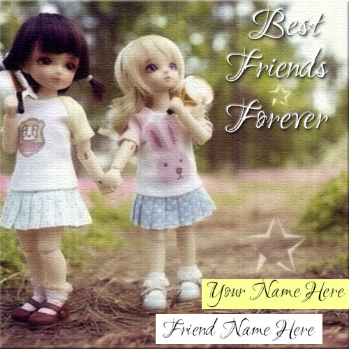 Create Best Friends Forever Picture With Friend Name