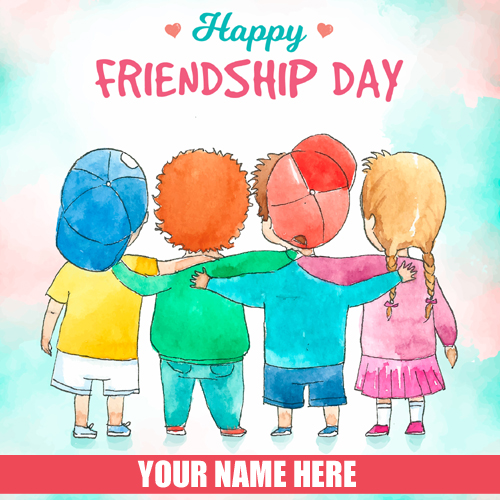 Happy Friendship Day 2018 Greeting With Name
