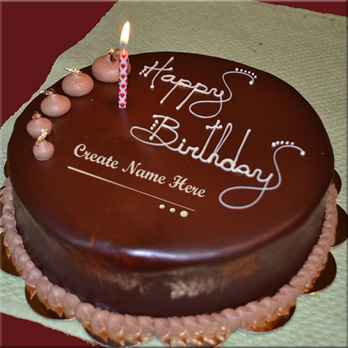 Customize Happy Birthday Candle Cake Name Pics