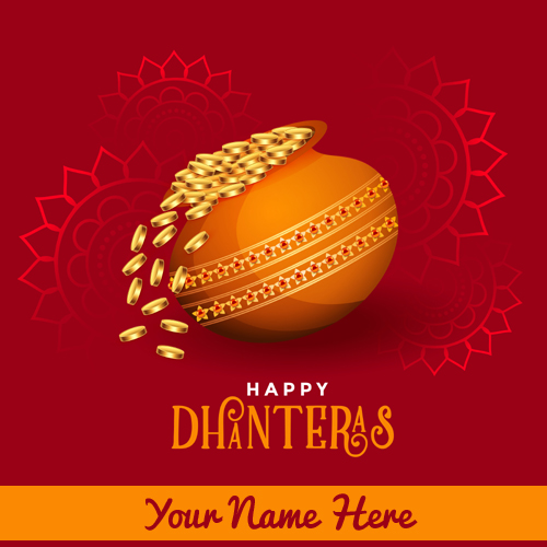 Happy Dhanteras 2019 Greeting With Your Name