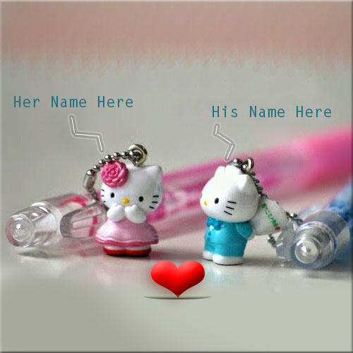 Write Name On Cute Love Couple Profile Picture