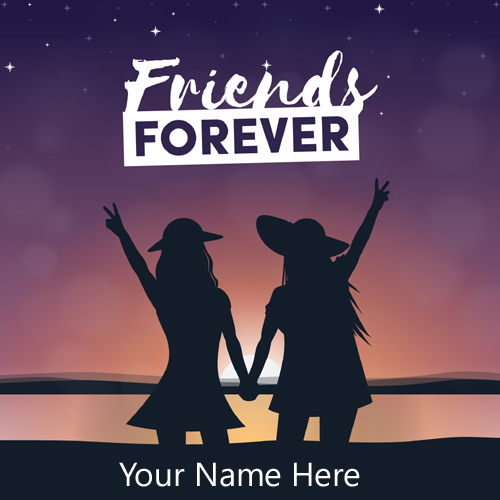 Best Friends Forever Greeting For Girls With Name