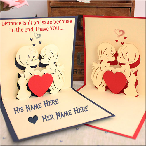 Personalize Handmade Love Greeting Card Name Pics