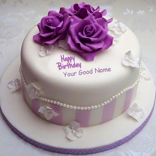 Flowers Birthday Wishes Nice Name Cakes Pictures